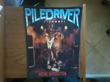 PILEDRIVER,METAL INQUISITION SEW ON SUBLIMATED LARGE BACK PATCH