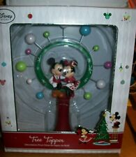 DISNEY STORE MICKEY AND MINNIE MOUSE CHRISTMAS TREE TOPPER NEW IN BOX