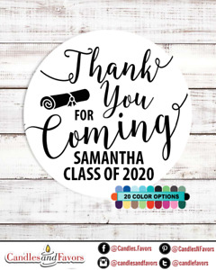 Thank you for coming! 2020 Graduation Personalized Party Favor Round Stickers