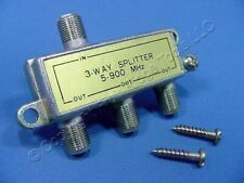 Leviton GOLD 900 MHz 3-Way Coaxial F-Type Video Distribution Splitter 40987-3