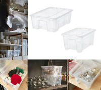 Details about  /24x Lid Clips For IKEA SAMLA 5L 11L 22L Storage Boxes Tidy Secure Seal Latch Cap