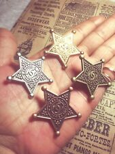 4 Chanel Large Star Buttons Replacement Sewing Accessories