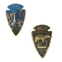 Yosemite Arrowhead Geocoin- Antique Bronze Geocaching Nationapark Trackable Coin