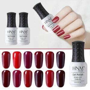 Soak Off Wine Red Colour Gel Nail Polish UV LED Top Base Coat Lacquer Manicure