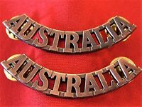 BRASS WW1 WW2 KOREAN WAR AUSTRALIAN ARMY AUSTRALIA SHOULDER BADGES ANZAC replica