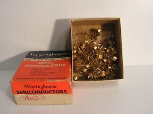 NOS Westinghouse  Audio Semiconductors Gold Color Box 0f Over 70