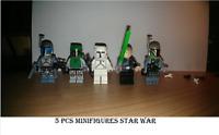 5 Pcs Star Wars Figure JANGO Fett Before Vizsla Boba Fett Minifigures Lego MOC