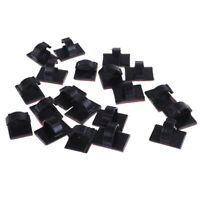 20pcs self-adhesive wire tie cable clamp clip holder for car dash cam lx