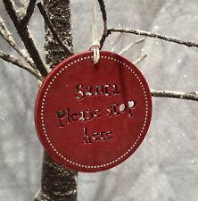 Este de la India Rojo Santa detenerse aquí señal árbol de Navidad Colgante Decoración De Puerta
