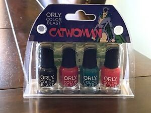 Gotham Girls Nail Polish Set Catwoman Orly Color Blast DC Comics Ltd Ed Glitter
