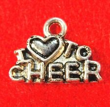 "10Pcs. Tibetan Silver ""I Love To Cheer"" Charms Pendants Earring Drops Sp01"