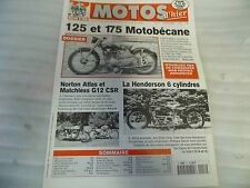 REVUE MOTOS D'HIER N° 17 SEPTEMBRE 1999 /125 ET 175 MOTOBECANE/ NORTON ATLAS