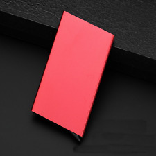 RFID Blocking Aluminum Alloy Card Case  Protector Credit Card ID Holder RD