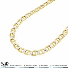 5mm Wide Diamond Cut Marine Anchor Link Chain Necklace 10K Yellow Gold 20""