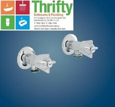 DORF IRWELL BUILDER'S CHOICE WASHING MACHINE TAP PAIR CHROME