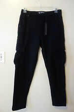 Control Sector Men's Black Warm Sport Pants Wool Cargo pants Size 32 Nwt