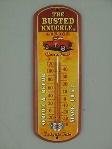 9977731-x Vintage Wand-Thermometer Blechschild Auto Garage 30x10cm