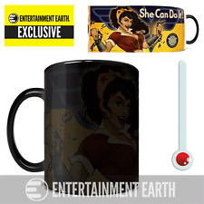 DC Comics Justice League Wonder Woman She Can Do It Bombshells Morphing Mug