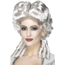 Parrucche e barbe bianchi in plastica per carnevale e teatro