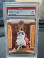 LEBRON JAMES HARDCOURT #17 | GRADED MINT 9 | 2006 UPPER DECK