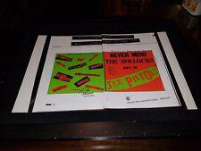 Sex Pistols Never Mind The Bullocks Rare Original Promo Poster Ad Framed!