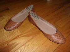 Used and Worn Brown Mix No. 6 Round Toe Ballet Flats Size 8.5 Cute and Dainty