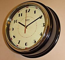 American style Diner 30cm Deep Black Large Wall Clock Kitchen Living room