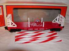 Lionel 6-81373 Candy Cane Christmas Flatcar w Bulkheads O 027 2015 New