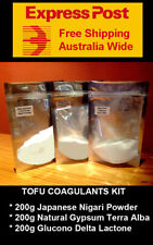 Food Grade Tofu coagulants kit  : Nigari + Gypsum + Glucono Delta Lactone