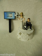 Wedding Reception Party Game Over Sign  Sports Soccer Ball Cake Topper