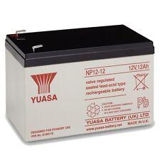Yuasa NP12-12 12V 12Ah Sealed Lead Acid Rechargeable SLA Industrial Battery