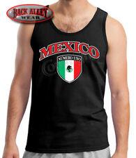Mexican Crest Pride Flag Tank Shirt Beater Mexico Hispanic Numero Uno