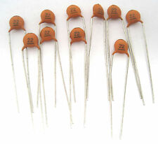 22pF 100V Type NP0 Ceramic Disc Capacitor: Ideal for RF Circuits. Lots of 10