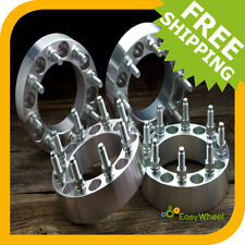 4 Wheel Spacers Adapters 8x6.5 with 9/16 studs 1 inch thick