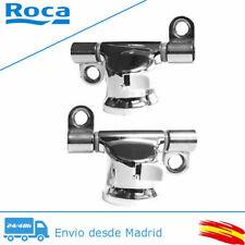 Roca AI0002100R Conjunto de Bisagras para Inodoros Modelo Dama Senso/Giralda, Pack de 2 Unidades - Platas
