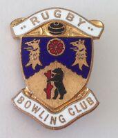 Rugby Bowling Club Badge Rare United Kingdom Pin Vintage (M12)