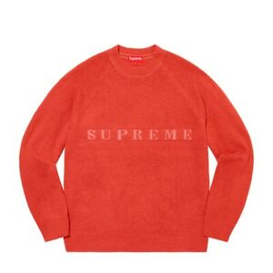 Supreme Stone Washed Sweater Red DS - Size Xlarge (XL) IN HAND FW20