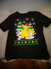 NWOT OLD NAVY COLLECTABILITEES CHRISTMAS HOLIDAY POKEMON PIKACHU 10/12 T-SHIRT