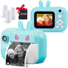 Instant Camera for Kids Digital Camera for Girls Toddler Camera with Print Paper