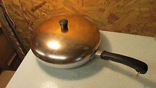 "Wear Ever Aluminum Hallite Skillet Fry Pan & Lid Copper Top 10 1/2"""