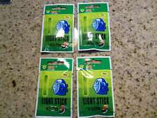 """20 Lunker style fishing lights Glow Sticks- Green 1.5""""-4 Packs of 5 -Lot of 20"""