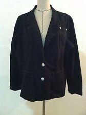 Levis 3X woman plus jacket denim jean black silver metal button pocket size