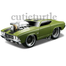 Maisto Muscle Machines 1969 Chevrolet Chevelle SS 1:24 Diecast Car 35238 Green