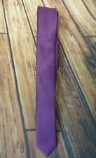 NWD NWOT Vesuvio Napoli Solid Purple Color Men's Neck Tie Skinny