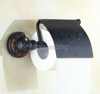 Black Oil Rubbed Bronze Toilet Paper Roll Holder Bathroom Wall Mounted tba476