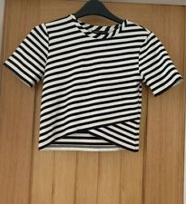 Marks and Spencer Limited Edition Striped Top Size 6 UK Thick Material Evening