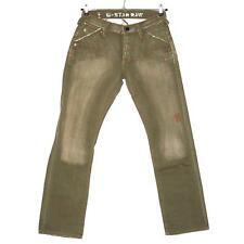 #5230 G-Star Jeans Hose JEANS 06-2PRE SC LIMIT CLASSIC PANT olive used 33/32