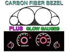 01-02 HONDA CIVIC AUTOMATIC W/ TACH CARBON FIBER BEZEL + RED GLOW GAUGE FACE NEW
