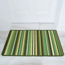 The Rug House Green Stripe Anti Creep Entrance Door Mat and Runner Rugs Luna - 6