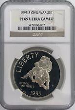 1995 S Civil War S$1 NGC PF69 Ultra Cameo - Silver Dollar